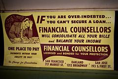 Poster of debt consolidation in 1948