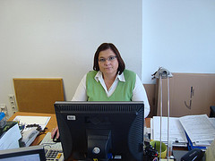 Lady working in the office
